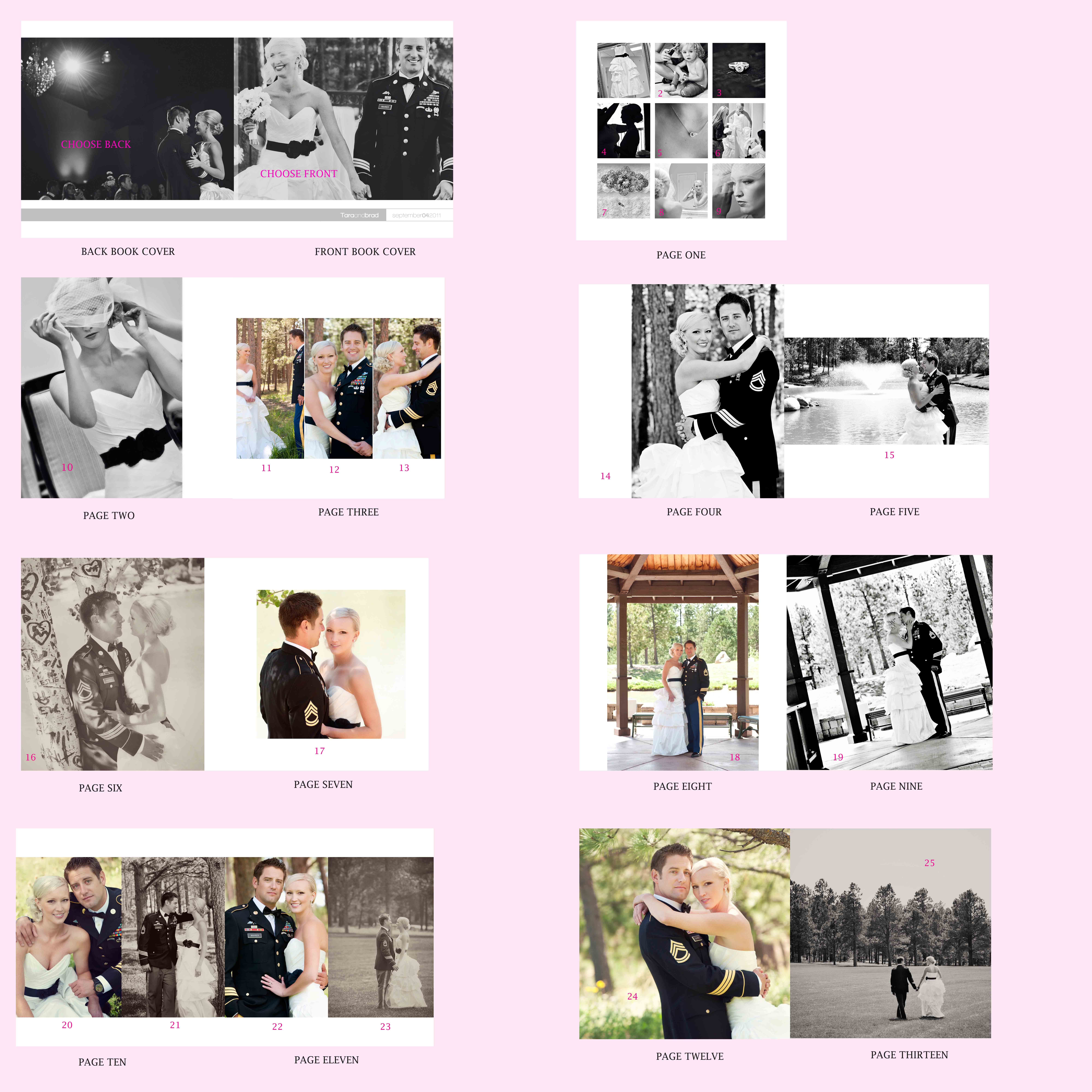 wedding book template » Jen Hebert Photography Blog